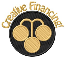 Creative Financing embroidery design
