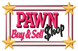 Pawn Shop Sign embroidery design