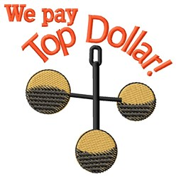 Top Dollar embroidery design
