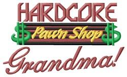 Hardcore Grandma embroidery design