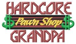 Hardcore Grandpa embroidery design