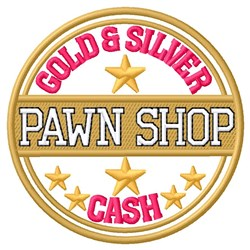 Gold & Silver Cash embroidery design