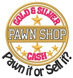 Pawn Or Sell embroidery design