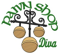 Pawn Shop Diva embroidery design
