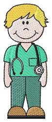 Male Nurse embroidery design