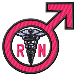 Male RN Sign embroidery design