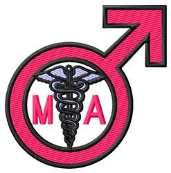 Male MA Sign embroidery design