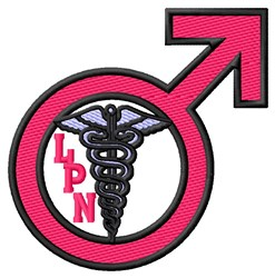 Male LPN Sign embroidery design