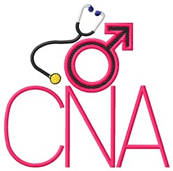 Male C.N.A. embroidery design