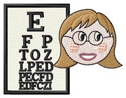 Lady Eye Doctor embroidery design