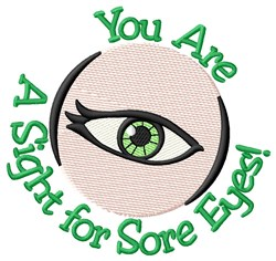 Sore Eyes embroidery design