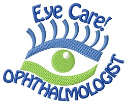 Opthalmologist embroidery design