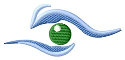 Human Eye embroidery design