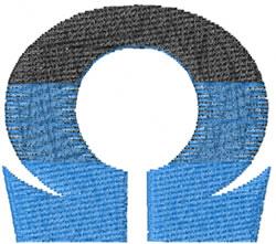 Small Toga Omega embroidery design