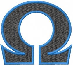 Toga Omega embroidery design