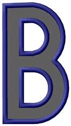 Plain Letter B embroidery design