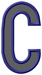 Plain Letter C embroidery design