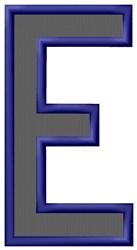 Plain Letter E embroidery design