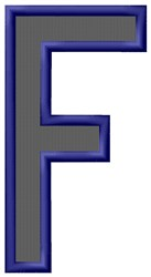Plain Letter F embroidery design