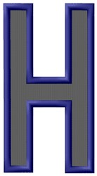 Plain Letter H embroidery design