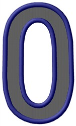 Plain Letter O embroidery design