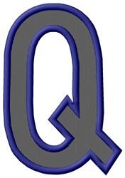 Plain Letter Q embroidery design