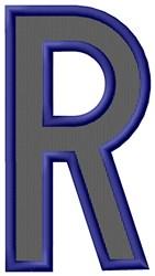 Plain Letter R embroidery design