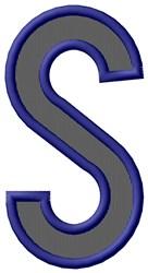 Plain Letter S embroidery design