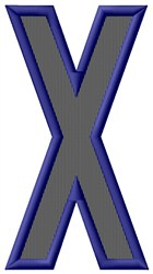 Plain Letter X embroidery design