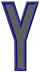 Plain Letter Y embroidery design