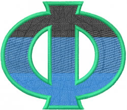 Toga Phi embroidery design