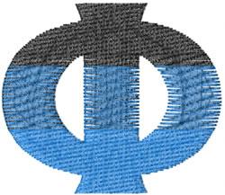 Small Toga Phi embroidery design