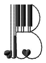Piano B embroidery design
