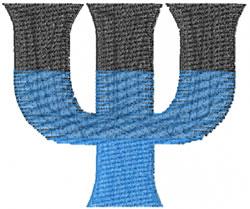 Small Toga Psi embroidery design