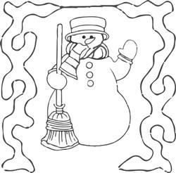 Snowman Quilt Block embroidery design