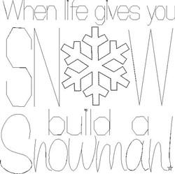 Build A Snowman embroidery design