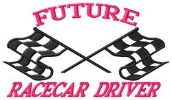 Future Racecar Driver embroidery design