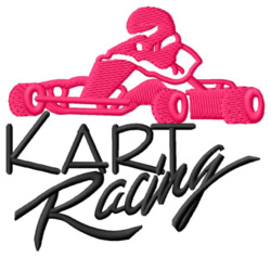Kart Racing embroidery design