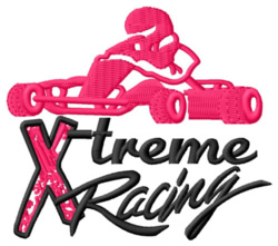 Extreme Racing embroidery design