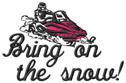 Bring on the Snow embroidery design