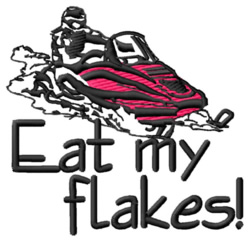 Eat My Flakes embroidery design