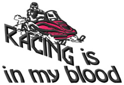 Racing In My Blood embroidery design