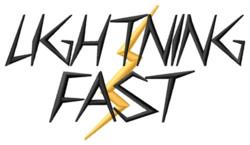 Lightning Fast embroidery design