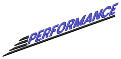 Performance Logo embroidery design