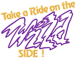 Take a Ride embroidery design