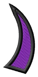 Pointed Purple Right Parenthesis embroidery design