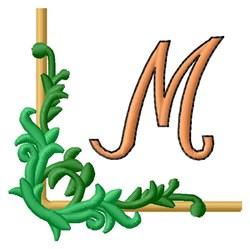 Vining Corner M embroidery design