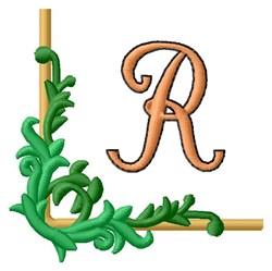 Vining Corner R embroidery design