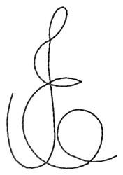 Craft Letter E embroidery design