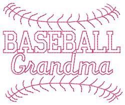 Baseball Grandma embroidery design